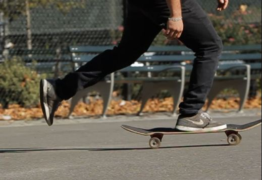 skateboard pushing