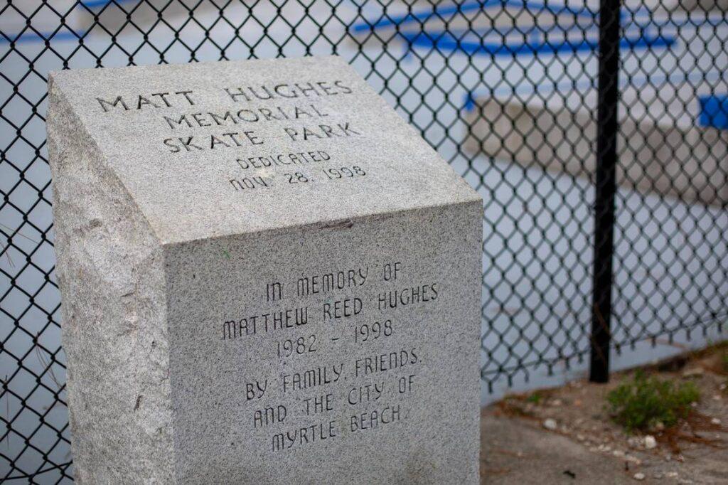 Memorial Stone - Matt Hughes Skatepark